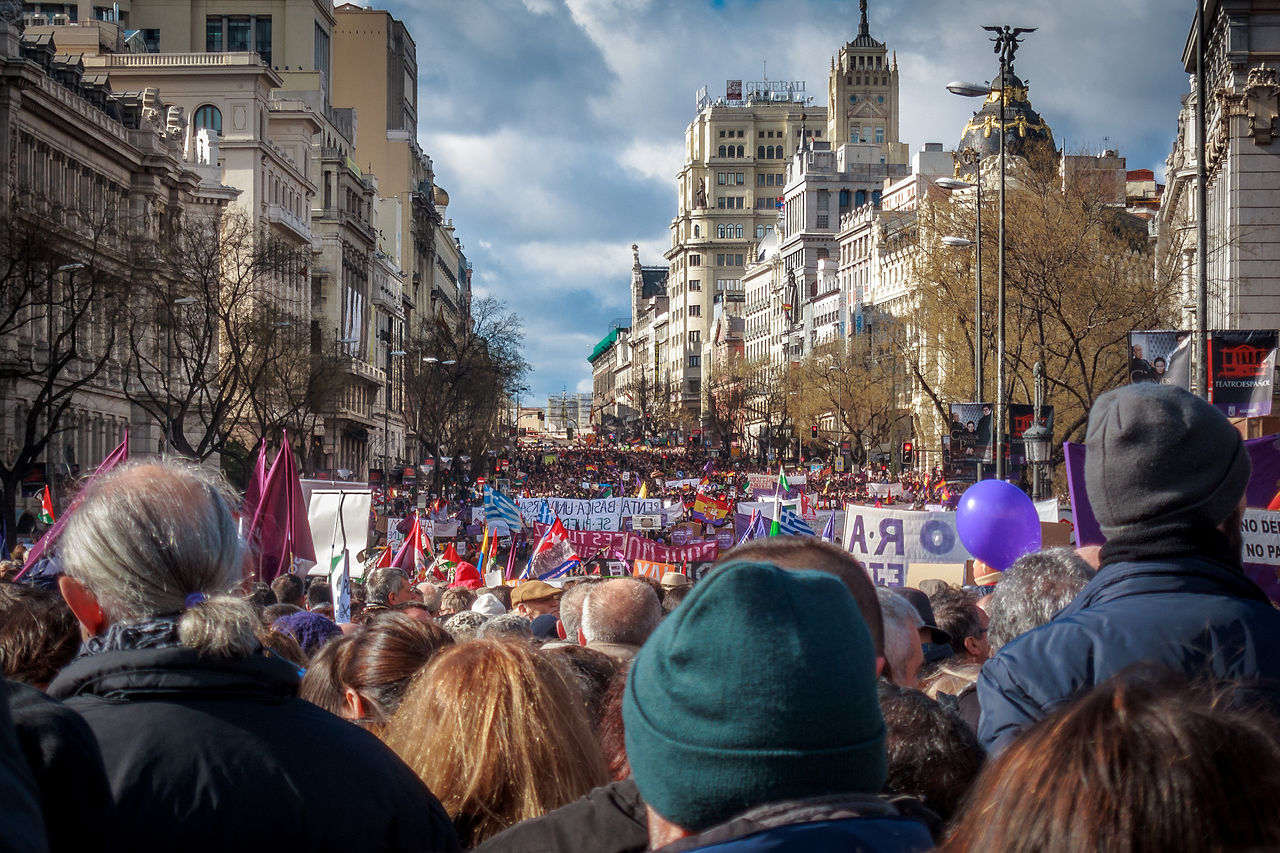 Podemos march in Madrid, photo by Barcex